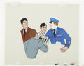 animation art:Production Drawing, Batman and Robin Animation Production Cel Set-Up Original Art(undated)....