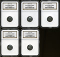 Proof Roosevelt Dimes, (5)1987-S 10C PR 69 Deep Cameo NGC. ... (Total: 5 coins)