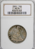 Seated Half Dollars, 1891 50C MS64 NGC....