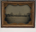 Photography:Ambrotypes, Early War Half-plate Ambrotype View of a Company Size Formation ofUnion Troops....