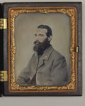 Photography:Tintypes, Stunning Tintype Ninth Plate of Confederate,...
