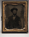 Photography:Tintypes, Tintype Ninth Plate of a Sergeant,...