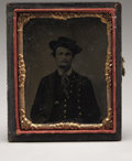 Photography:Tintypes, Tintype Ninth Plate in Gilded Frame,...