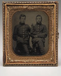 Photography:Tintypes, Tintype Ninth Plate of Two Union Soldiers,...