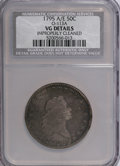 Early Half Dollars, 1795 50C A Over E, Two Leaves, O-113, R.3--Improperly Cleaned--NCS.VG Details....