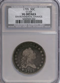 Early Half Dollars, 1795 50C Two Leaves, O-105, High R.3--Environmental Damage--NCS. VGDetails....