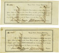 Military & Patriotic:Pre-Civil War, Lot of Two Republic of Texas $50.00 Texas Navy Certificates 1841. ... (Total: 2 Items)