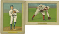 Baseball Cards:Lots, 1911 T3 Turkey Red Cabinets #2 Bill Bergen and #29 Amby McConnellGroup Lot of 2. Impressive pairing of cabinet cards from ...