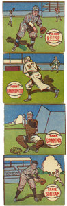 Baseball Collectibles:Others, 1943 M.P. & Co, Cards Including Pee Wee Reese and Joe MedwickLot of 7. One of the few card sets issued during World War II...