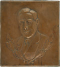 Political:Inaugural (1789-present), Franklin D. Roosevelt: Bas Relief Copper Wall Plaque....