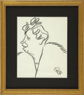 Political:Inaugural (1789-present), Eleanor Roosevelt: Caricature Signed by Oscar Berger....