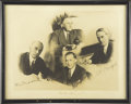 Autographs:U.S. Presidents, Franklin D. Roosevelt: Photograph Signed as President, alsoincludes the Signatures of Advisors Louis McHenry Howe, StephenEa...