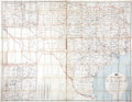 Miscellaneous:Maps, [Map] Post Route Map of the State of Texas Showing Post Officesand with Intermediate Distances on Mail Routes. ... (Total: 2Items)
