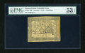 Colonial Notes:Pennsylvania, Pennsylvania October 1, 1773 5s PMG About Uncirculated 53 EPQ....