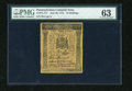 Colonial Notes:Pennsylvania, Pennsylvania July 20, 1775 10s PMG Choice Uncirculated 63....