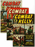 Golden Age (1938-1955):War, Combat Kelly #22-25 and 34 Group (Atlas, 1954-55) Condition:Average VF-.... (Total: 5 Comic Books)