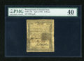 Colonial Notes:Pennsylvania, Pennsylvania April 3, 1772 18d PMG Extremely Fine 40....