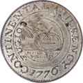 Colonials, 1776 $1 Continental Dollar, CURRENCY, Pewter MS62 PCGS....
