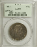 Coins of Hawaii: , 1883 50C Hawaii Half Dollar AU50 PCGS. PCGS Population (43/295).NGC Census: (18/207). Mintage: 700,000. (#10991)...