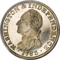 Colonials, 1783 1C Washington & Independence Cent, Draped Bust, Silver Restrike PR67 PCGS....