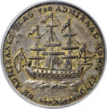 Colonials, 1778-1779 TOKEN Rhode Island Ship Token, Wreath Below, Brass MS64 PCGS....