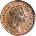 Colonials, 1724 1/2P Hibernia Halfpenny MS65 Red and Brown PCGS....