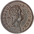 Colonials, 1722 1/2P Rosa Americana Halfpenny, D. G. REX MS62 Brown PCGS....