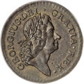 Colonials, 1723 1/2P Rosa Americana Halfpenny, Crown MS63 Brown PCGS....