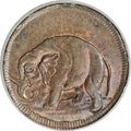 Colonials, (1694) TOKEN London Elephant Token, Thick Planchet MS64 Brown PCGS....