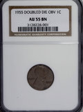 Lincoln Cents, 1955 1C Doubled Die Obverse AU55 NGC....