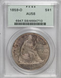 Seated Dollars, 1859-O $1 AU58 PCGS....