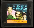 "Movie Posters:Mystery, The Secret of the Blue Room (Universal, 1933). Glass Slide (3.25"" X4""). Mystery...."