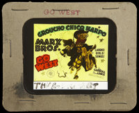 "Go West Lot (MGM, 1940). Glass Slide (3.25"" X 4"") and Lobby Card (11"" X 14""). Comedy.... (Total: 2 I..."