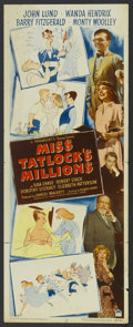 "Movie Posters:Comedy, Miss Tatlock's Millions (Paramount, 1948). Insert (14"" X 36""). Comedy...."