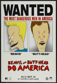 "Beavis and Butthead Do America (Paramount, 1996). One Sheet (27"" X 40""). Comedy"