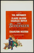 "Movie Posters:Adventure, The Buccaneer (Paramount, 1958). Window Card (14"" X 22"").Adventure...."