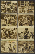 "Movie Posters:Black Films, Black Gold (Norman, 1928). Lobby Card Set of 8 (11"" X 14""). BlackFilms.... (Total: 8 Items)"