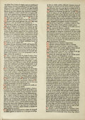 Books:Early Printing, [GUTENBERG, Johann]. [BALBUS, Johannes]. [Catholicon].[Mainz: Peter Schoeffer (?) for Konrad Humery (?), ca. 14...