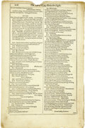 Books:Manuscripts, William Shakespeare. Mr. William Shakespeares Comedies,Histories, & Tragedies. A Leaf from each of The Four Fol...