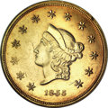 Territorial Gold, 1855 $50 Wass Molitor Fifty Dollar MS61 NGC. CAC....