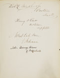 Autographs:Statesmen, Autograph Album Containing Signatures of the 29th US Congress. ...