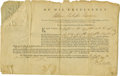 Military & Patriotic:Revolutionary War, William Paterson Rare Partly-Printed Document Signed ...