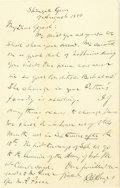 Autographs:U.S. Presidents, Rutherford B. Hayes Autograph Letter Signed ... (Total: 2 Items)