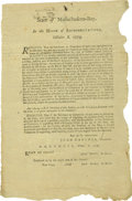 Military & Patriotic:Revolutionary War, [John Hancock] Revolutionary War Broadside, ...