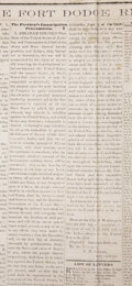 Books:Periodicals, [Abraham Lincoln] Emancipation Proclamation newspaper....