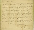 Autographs:Statesmen, Excessively Rare Holograph Letter Signed by Supreme Court Justice,James Iredell....