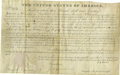 Autographs:U.S. Presidents, John Quincy Adams Signed Land Grant....