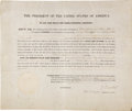 Autographs:U.S. Presidents, Zachary Taylor Partly Printed Document Signed as President withLarge Steel Engraving. ... (Total: 2 Items)