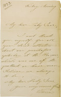 Autographs:Non-American, Queen Victoria of England, Autograph Letter Signed,...