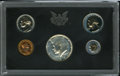 Proof Roosevelt Dimes, 1970-S Proof Set Featuring No S Dime.... (Total: 5 coins)